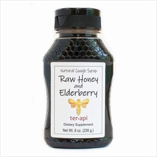[USA shipping]Terapi Raw Honey and Elderberry Natural Cough Syrup 8 Ounces - D