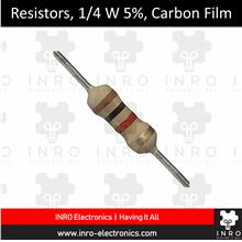 Resistors, Carbon Film - Through Hole, 1R - 270R