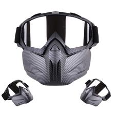Motorcycle Helmet Riding Detachable Modular Face Mask Windproof Breathable Shi