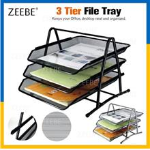 3-Tier Stationery Tray for Paper Storage and a Shelf Rack