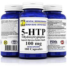 [USA shipping]Mental Refreshment: 5-HTP: 100 mg 180 capsules (1 Bottle)