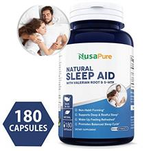 [USA shipping]Natural Sleep Aid with 5 HTP  & Valerian Root 180 caps (Non-