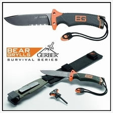 Gerber 31-000751 Bear Grylls Ultimate Serrated Edge Knife with Sheath