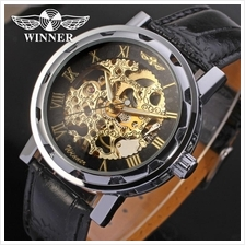 Winner Original Fashion Men Man Automatic Mechanical Watch +Gift