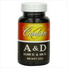 [USA shipping]Carlson Labs Vitamin A and D 10000/400 IU 300 Softgels