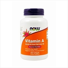 [USA shipping]Now Foods Vitamin A 25000 IU from Fish liver oil 250 Softgels (P