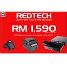 RedTech POS System Package : Software + Receipt Printer + Scanner + Cash Drawe