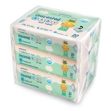 WATSONS Unscented Baby WipesPlain 3 x 20s