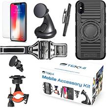 [From USA]IPhone X Bundle Accessory Combo Set Kit - Includes: Silicone Protect