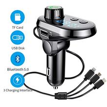 [From USA]Bluetooth FM Transmitter Car Adapter MANLI Car Charger MP3 Player Bl