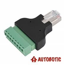 Ethernet RJ45 Male Plug to Screw Terminal Block Adaptor