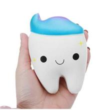 Jumbo Squishy Stretch Kawaii Teeth Bread Slow Rising Kids Toy (MULTI-A)