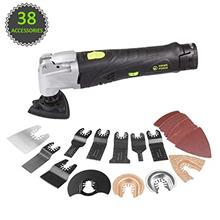 [From USA]HAWKFORCE 12V MAX Cordless Multi-Purpose Oscillating Tool with 6 Var