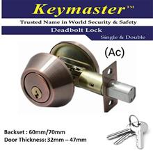 KEYMASTER A101 SINGLE SIDED DEADBOLT LOCK ANTIQUE COPPER