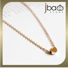 Simple Love 18k Rose Gold Plated Titanium Necklaces Birthday Valentine Gift