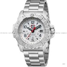 LUMINOX 3258 Navy Seal Steel 24-hr Date SS bracelet white