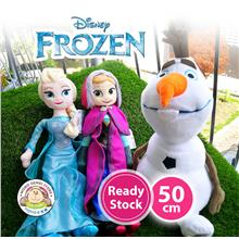 Disney Frozen Princess Anna Elsa Olaf Soft Plush Toy Doll (50cm)