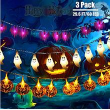 [USA Shipping]Halloween String Lights INAROCK 3Pack 29.6ft 60 LED Outdoor Hall