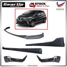 Perodua Myvi 2018 ABS PU Bodykit Front Side Rear Skirting Gear Up