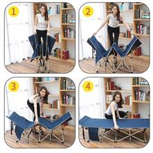 PORTABLE FOLDING BED SLEEPING MAT HOSPITAL OUTDOOR OFFICE 190CM