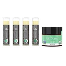 [USA Shipping]Lip Balm and Scrub Bundle - 4 Pack of Peppermint Flavored Lip Mo