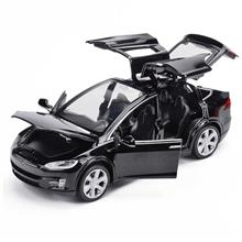 Diecast Toy 1:32 Scale Alloy Cars for Tesla Toy Model (black)