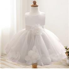 Girl Tutu Flower Petals Bow Dress for Toddler Girl