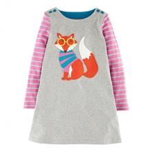 Kids Girls Dress Long Sleeve Cute Cartoon Pattern Princess Dress - Var