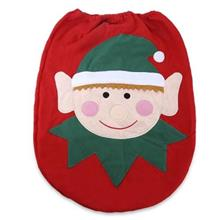 SANTA SPIRIT TOILET SEAT COVER FOR CHRISTMAS DECORATION (RED AND GREEN)