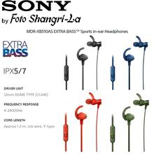 SONY MDR-XB510AS Sports ExtraBass SPLASH-PROOF In-Ear Headphones