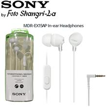 Sony MDR-EX15AP In-Ear Earphone Earbuds With Microphone - White