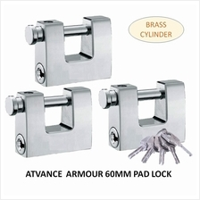 ATVANCE 3-PIECES ARMOURED PADLOCK BRASS CYLINDER