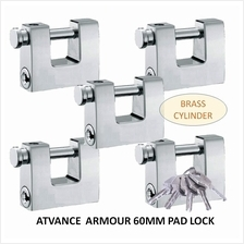 ATVANCE 5-PIECES ARMOURED PADLOCK BRASS CYLINDER