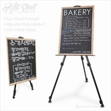 Pine Wood Blackboard Magnetic Chalkboard Menu With Easel Stand