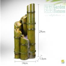 Five Bamboo Tabletop Fountain Desktop Water Feature 29cm Height