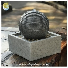 Mirage Resin Ball Tabletop Polystone In Granite Finished Fountain