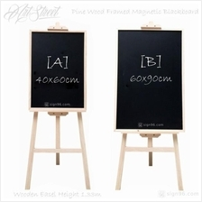 Artstreet Pine Wood Easel With Menu Drawing Writing Blackboard Magneti