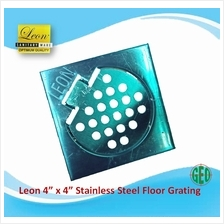 LEON 4 ' X 4 ' STAINLESS STEEL FLOOR GRATING FG401