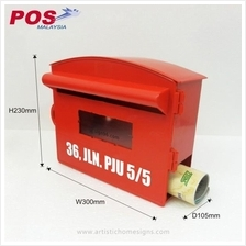 Plastic Letterbox, Mailbox, Peti Surat with 3M sticker address
