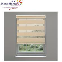 Zebra Double Ply Roller Blinds-Beige