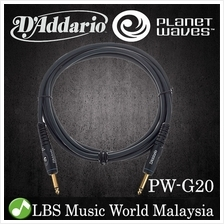 D'addario Planet Waves PW-G20 Custom Series Instrument Cable Keyboard Guitar (