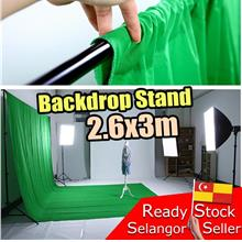 Portable Backdrop Background Stand Kit.Photo Shoot Studio Kaki Back