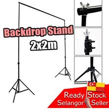 Portable Backdrop Background Stand Kit.Photo Shoot Studio 2meter 2x2m