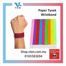 10pcs Waterproof TYVEK Paper Wristband EVENTS Wedding Playground