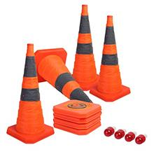 [FromUSA]Sunnyglade [4-Pack] 28 inch Collapsible Traffic Cones with LED Light