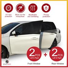 (4 PCS) Car Window Sun Shade Mesh Cover (Big, Front & Rear)