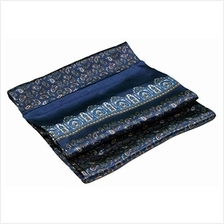 [From USA]Blue Paisley Printed Double Layer Long Silk Scarf
