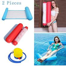 [FromUSA]2-Pack(BlueRed)Swimming Pool Lounger Floating Water Hammock