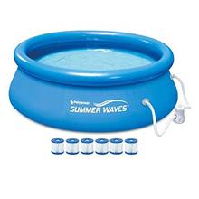 [FromUSA]Summer Waves 8ft x 30in Quick Set Inflatable Swimming Pool