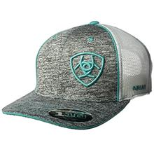 [From USA]ARIAT Heather Teal Mesh Cap (Gray)